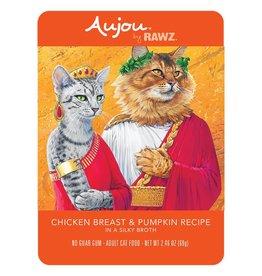 Rawz Rawz Cat AuJou Shredded Chicken Breast & Pumpkin 2.46oz Pouch