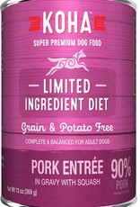 Koha Koha Limited Ingredient Pork Entree for Dogs 13oz