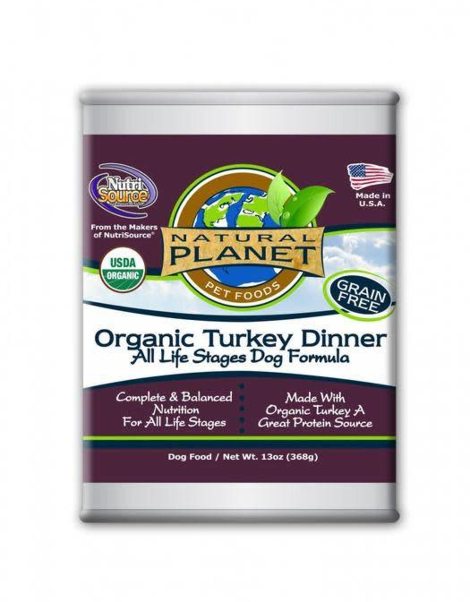 Natural Planet Organic Turkey Dinner Dog 13oz