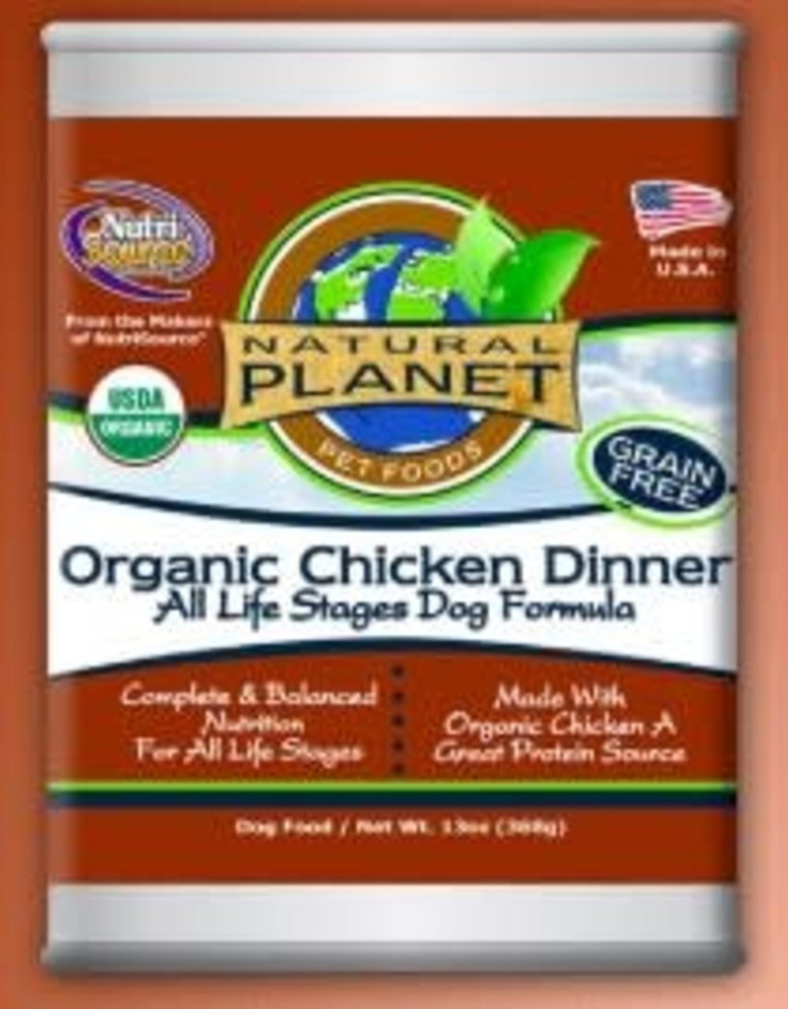 Natural Planet Organics Chicken Dinner Dog 13oz