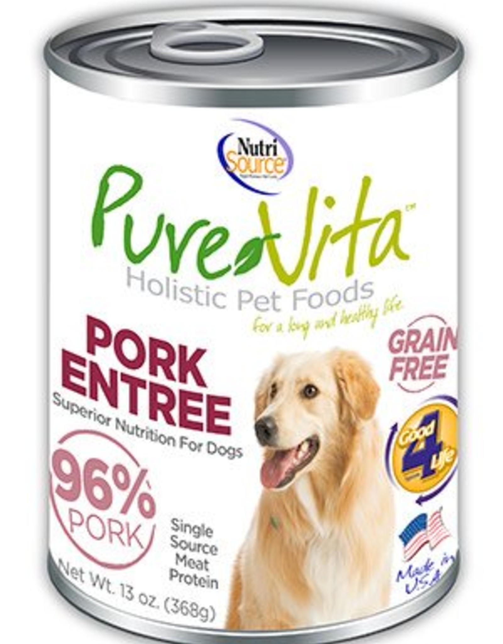 PureVita PureVita Pork & Pork Liver Dog Cans 13oz