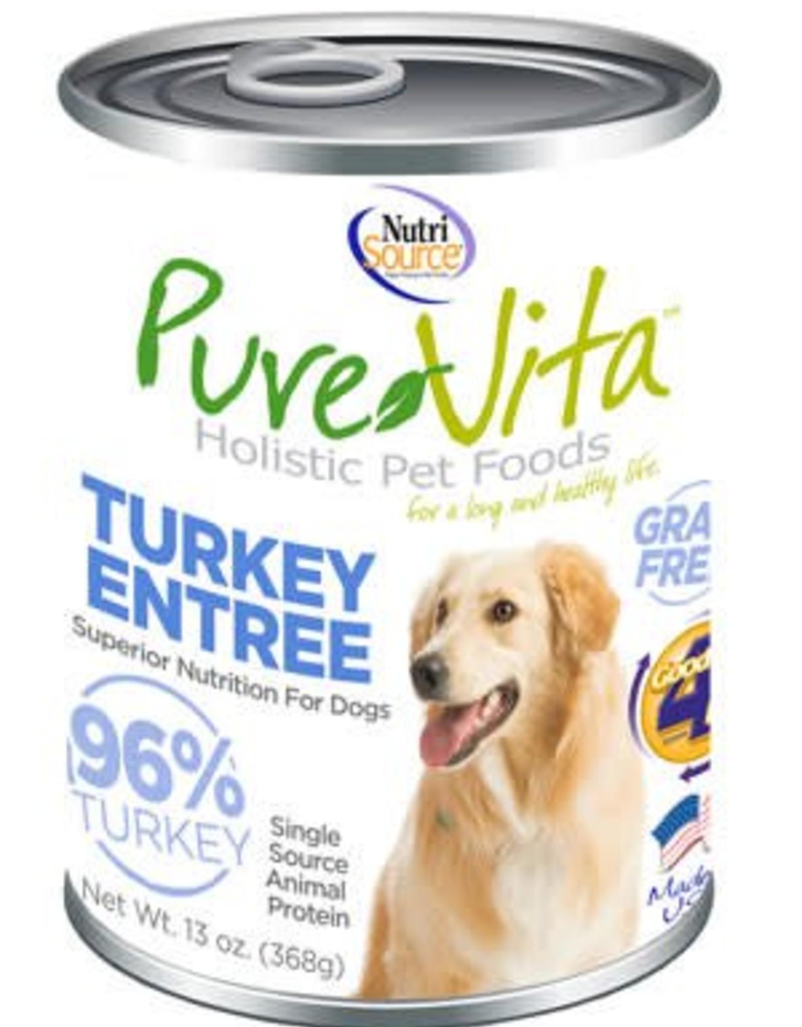PureVita PureVita Turkey & Turkey Liver Dog Cans 13oz