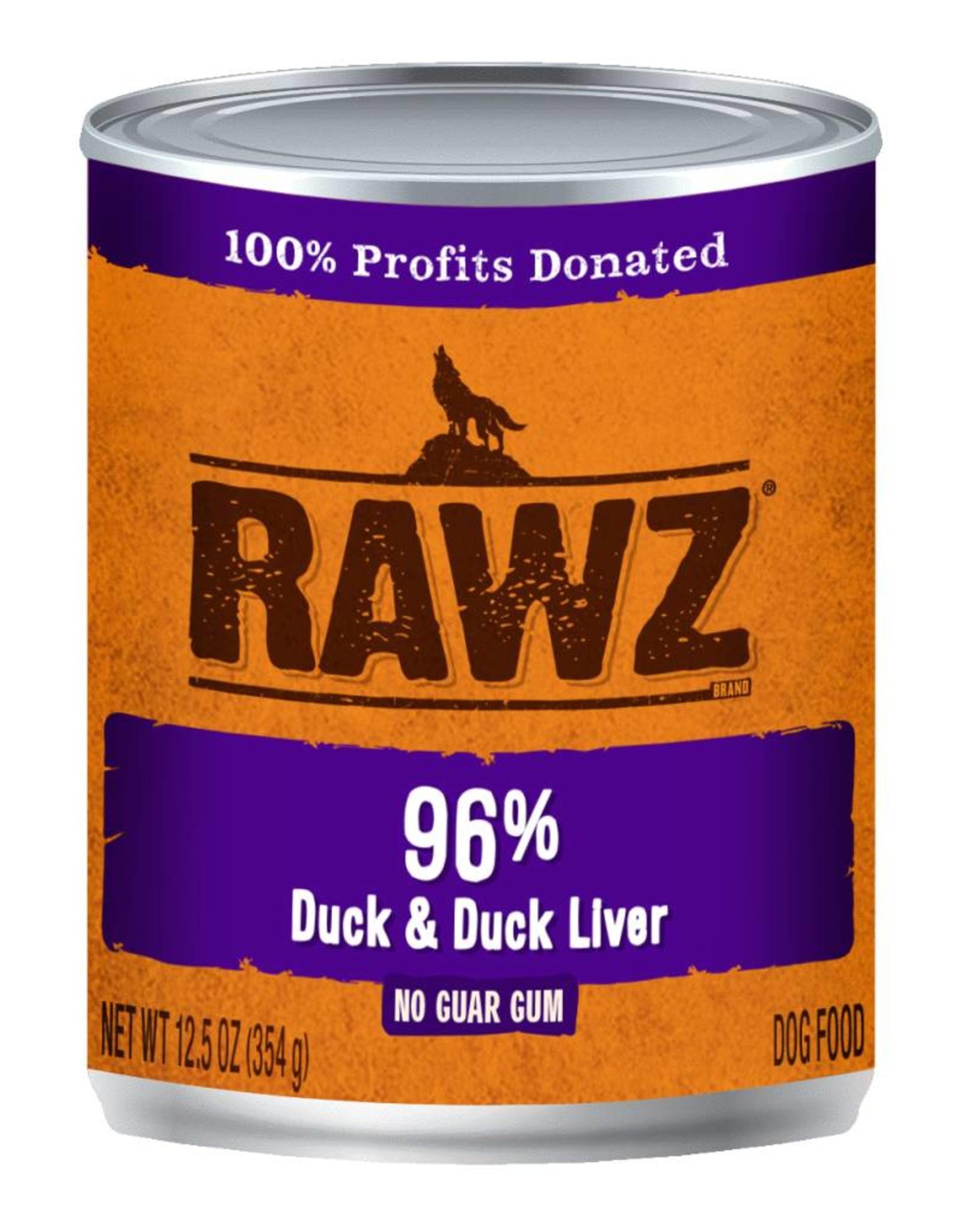 Rawz Rawz K9 96% Duck & Duck Liver Pate 12.5oz