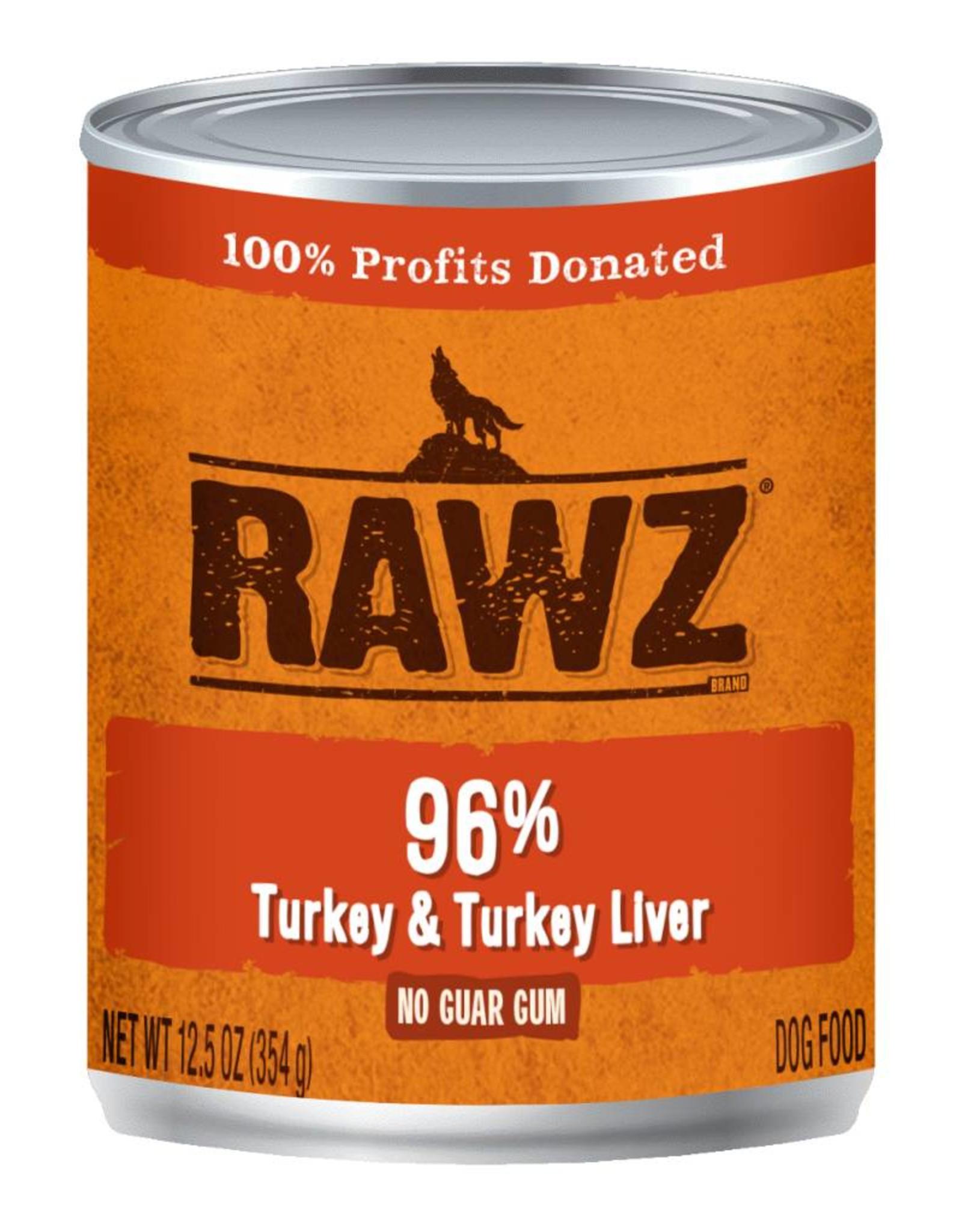 Rawz Rawz K9 96% Turkey & Turkey Liver Pate 12.5oz