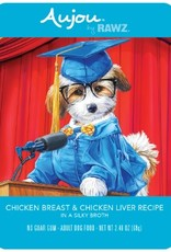 Rawz Rawz K9 AuJou Shredded Chicken Breast & Chicken Liver 2.46oz Pouch