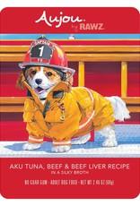 Rawz Rawz K9 AuJou Shredded Tuna, Beef & Beef Liver 2.46oz Pouch