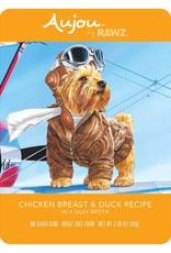 Rawz Rawz K9 AuJou Shredded Chicken Breast & Duck 2.46oz Pouch