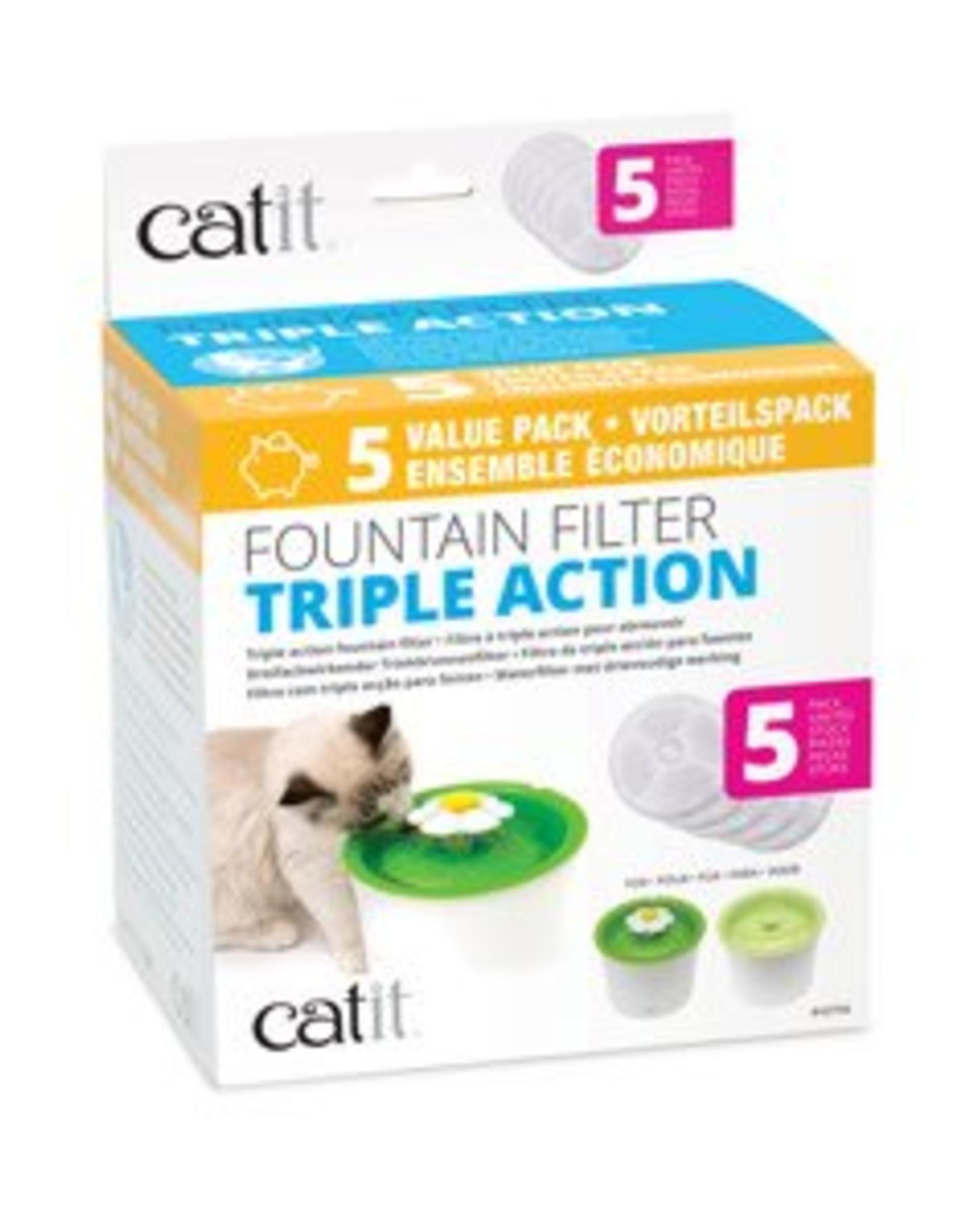 Hagen Catit 2.0 Triple Action Water Filter 5pk