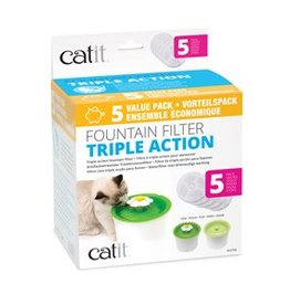 Hagen Catit 2.0 Triple Action Water Filter 5pk