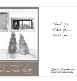 Dog Speak Dog Speak Card - Thank You - One of the secrets of a happy life is continuous small treats