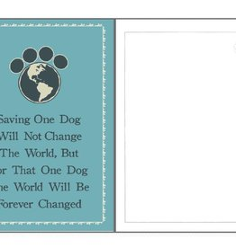 Dog Speak Dog Speak Card - Rescue - Saving One Dog