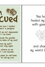 Dog Speak Dog Speak Card - Rescue - I am Rescued