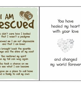 Dog Speak Dog Speak Card - Rescue - I am Rescued