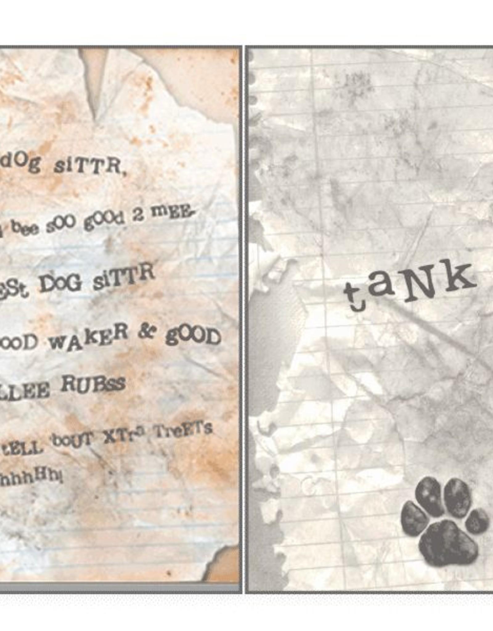 Dog Speak Dog Speak Card - Pet Sitter - Dog Sitter Letter
