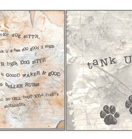 Dog Speak Dog Speak Card - Pet Sitter - Dog Sitter Letter