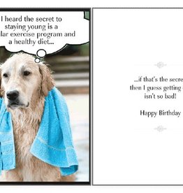 Dog Speak Dog Speak Card - Birthday - The Secret to Staying Young
