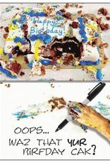 Dog Speak Dog Speak Card - Birthday - Messy Cake