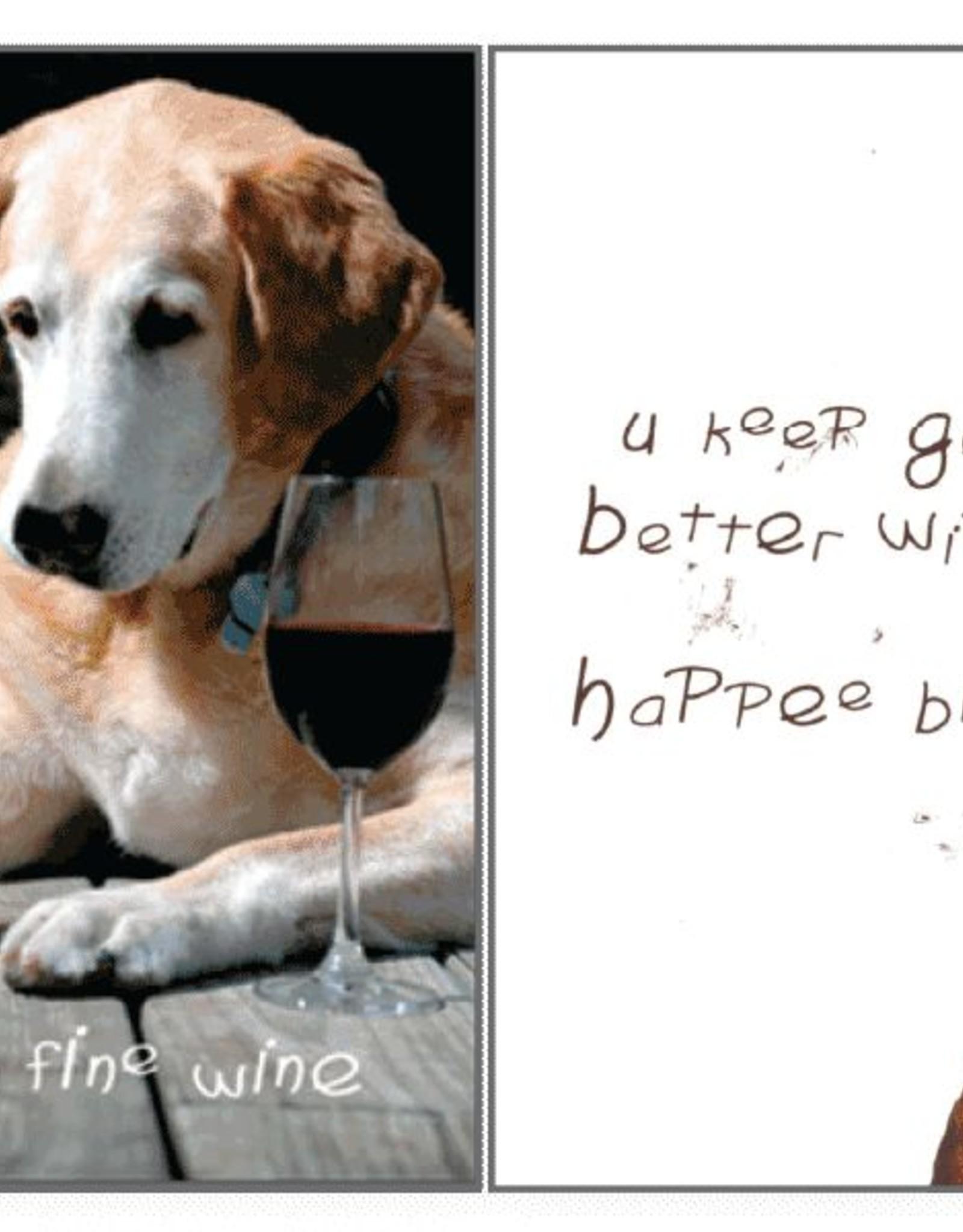 Dog Speak Dog Speak Card - Birthday - Like a Fine Wine