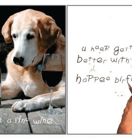 Dog Speak Dog Speak Card - Birthday - Like a Fine Wine