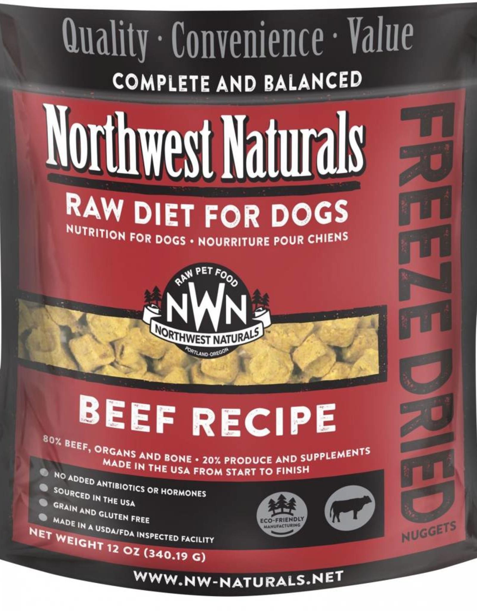 Northwest Naturals Northwest Naturals Freeze-Dried Beef Dog 12oz