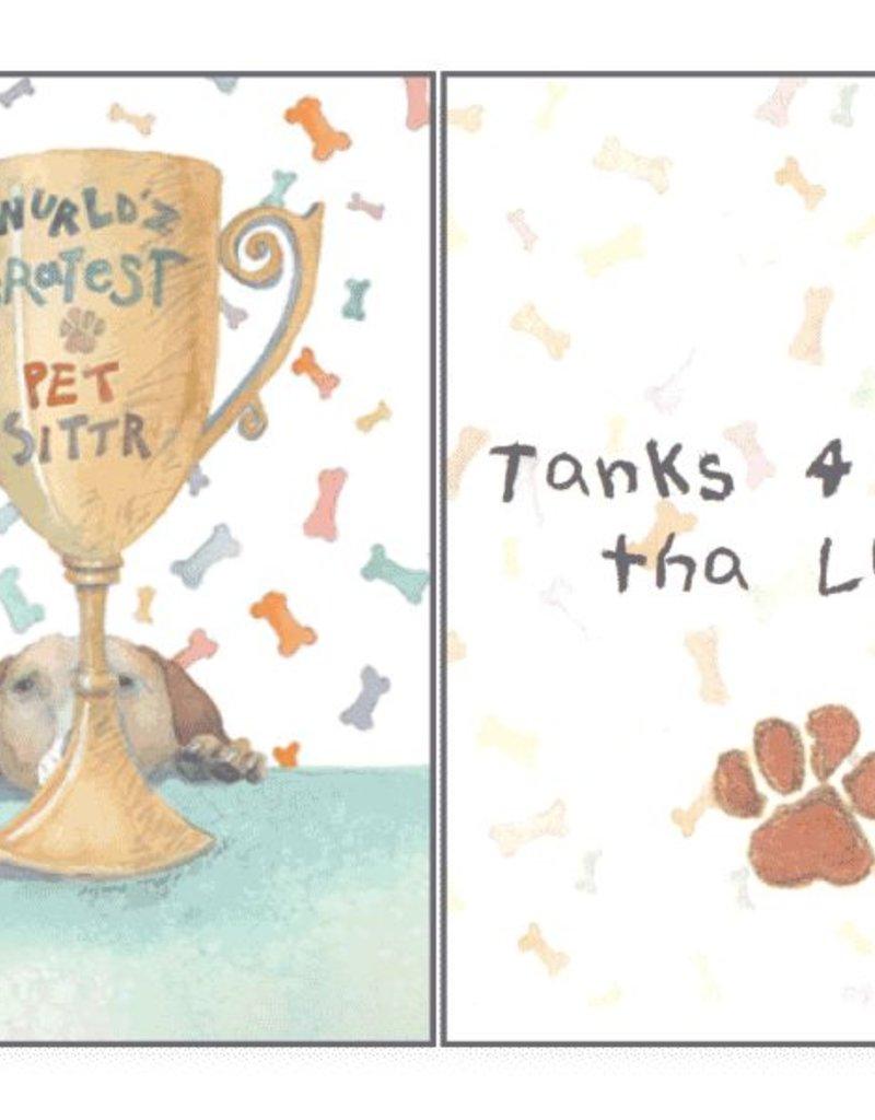 Dog Speak Dog Speak Card - Pet Sitter - World's Greatest