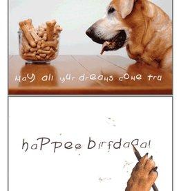 Dog Speak Dog Speak Card - Birthday - May All Your Dreams Come True