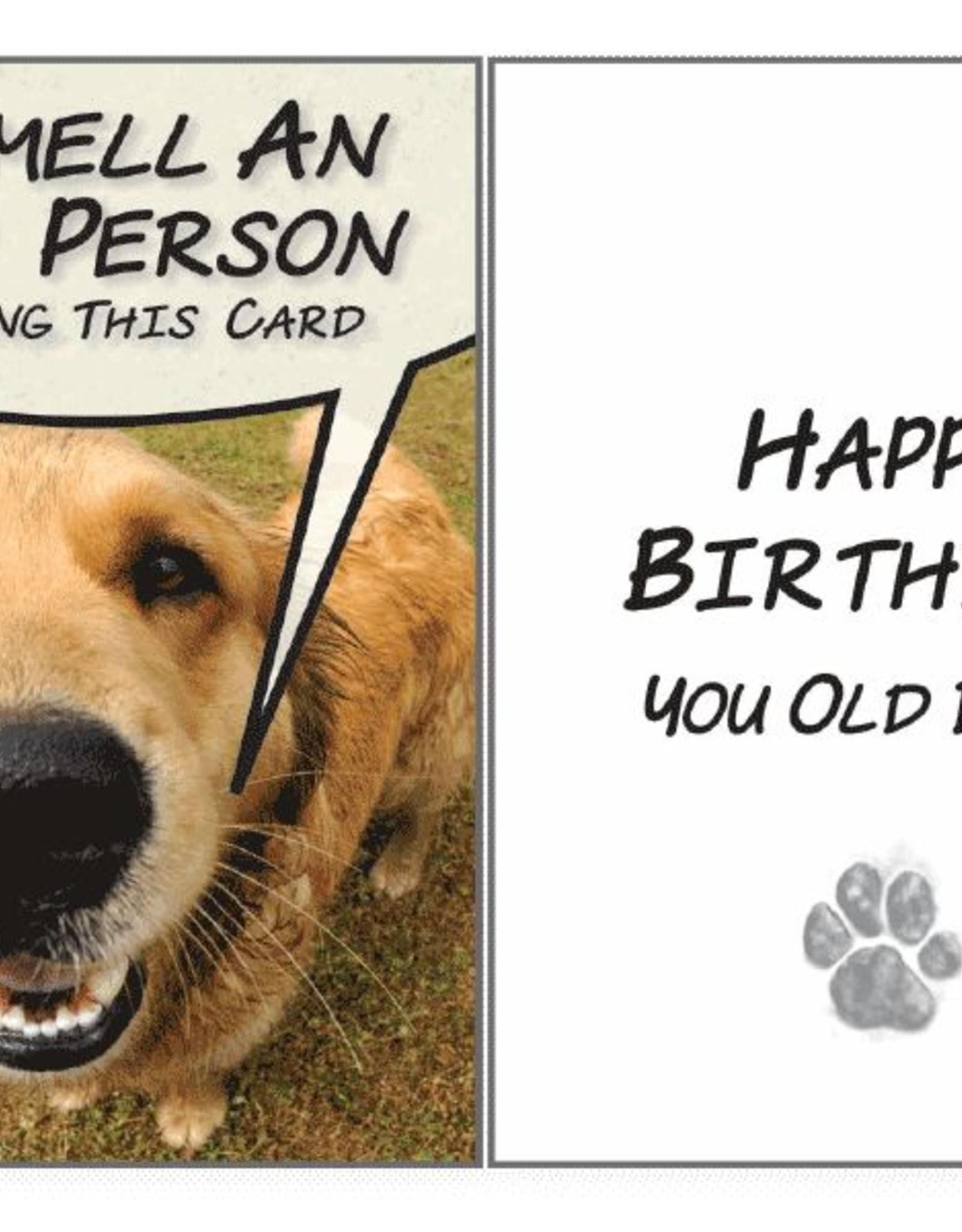 Dog Speak Dog Speak Card - Birthday - I Smell and Old Person