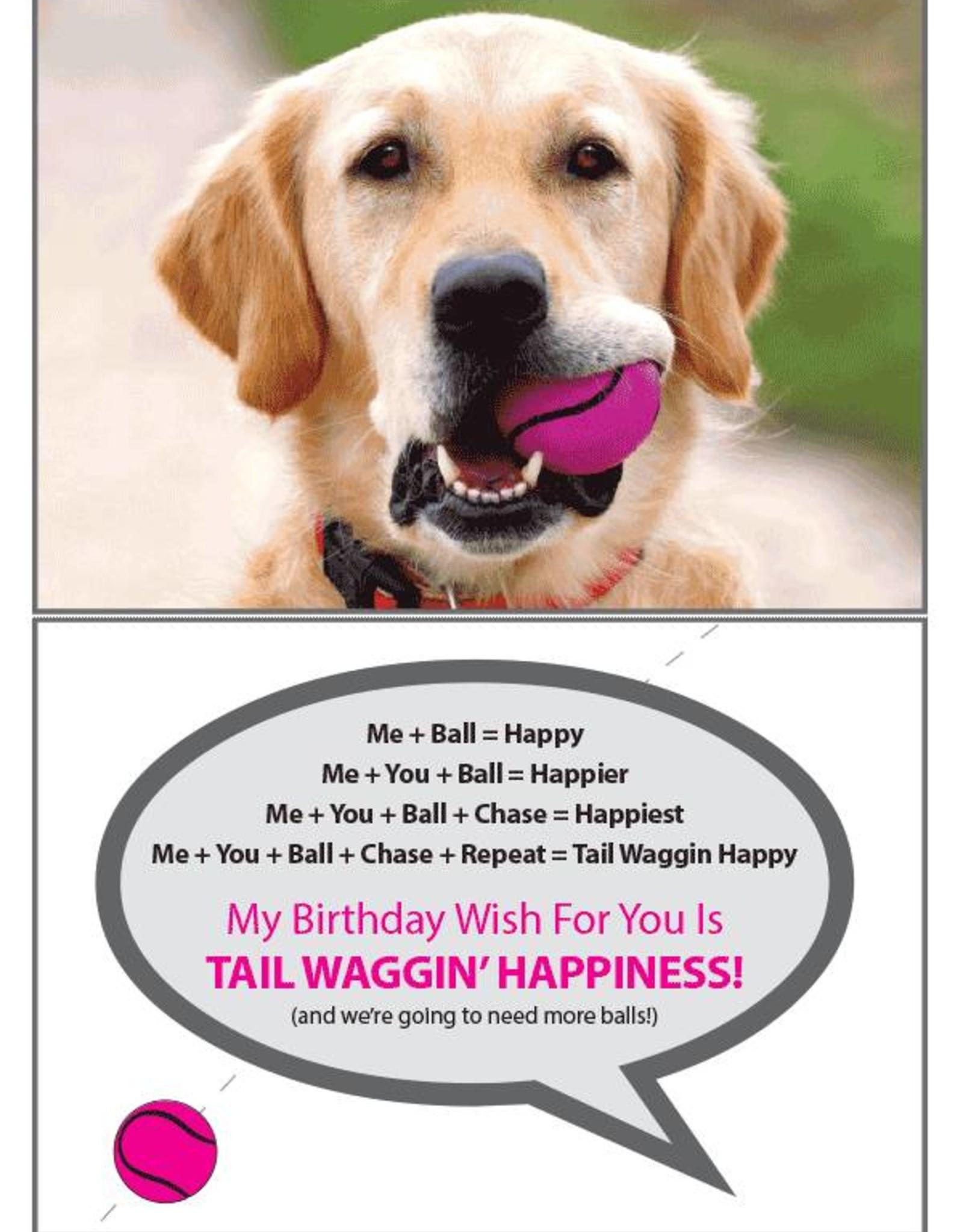 Dog Speak Dog Speak Card - Birthday - We're Going To Need More Balls