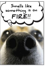 Dog Speak Dog Speak Card - Birthday - Smells Like Something is on Fire!