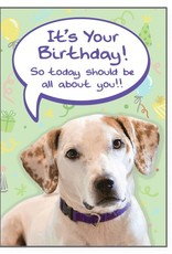 Dog Speak Dog Speak Card - Birthday - All About You