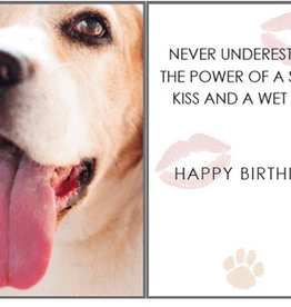 Dog Speak Dog Speak Card - Birthday - Sloppy Kiss