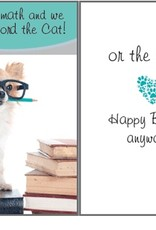 Dog Speak Dog Speak Card - Birthday - We Can't Afford The Cat
