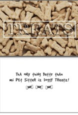 Dog Speak Dog Speak Card - Pet Sitter - TREATS
