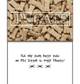 Dog Speak Dog Speak Card - Pet Sitter - TREATS