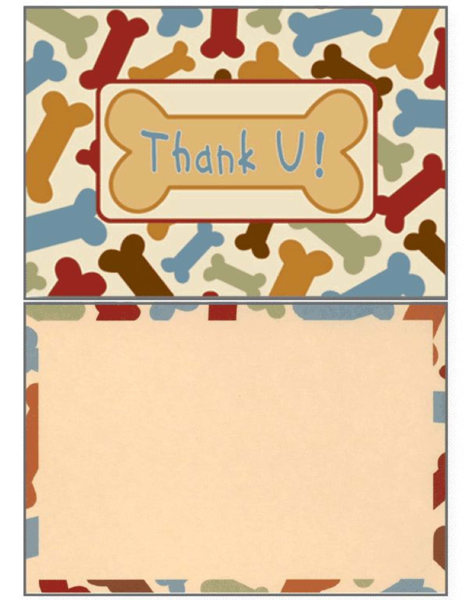 Dog Speak Dog Speak Card - Blank - Thank You
