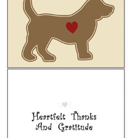 Dog Speak Dog Speak Card - Thank You - Heartfelt Thanks