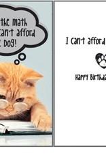 Dog Speak Dog Speak Card - Birthday - We Can't Afford The Dog