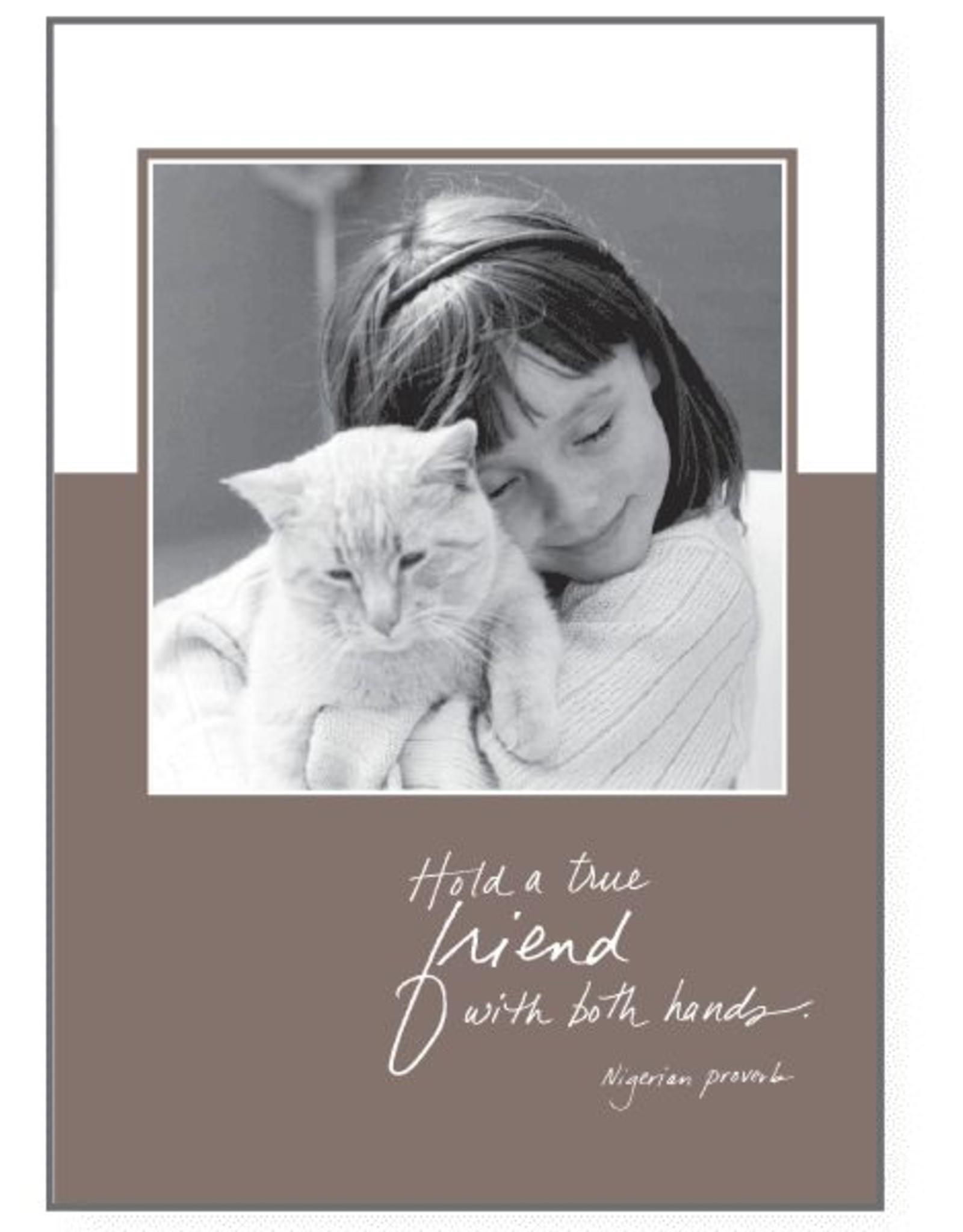 Dog Speak Dog Speak Card - Birthday - Hold a True Friend with Both Hands