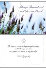 Dog Speak Dog Speak Card - Sympathy - Always Remembered