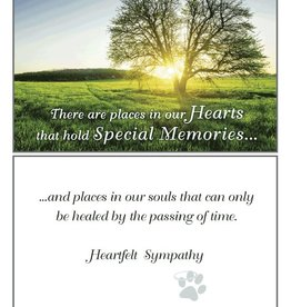 Dog Speak Dog Speak Card - Sympathy -There Are Places In Our Hearts