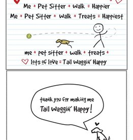 Dog Speak Dog Speak Card - Pet Sitter - Tail Waggin' Happy