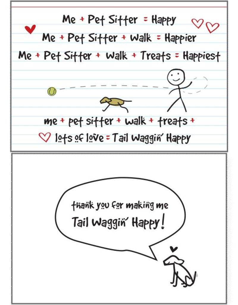 Dog Speak Dog Speak Card - Pet Sitter - Tail Waggin' Happy