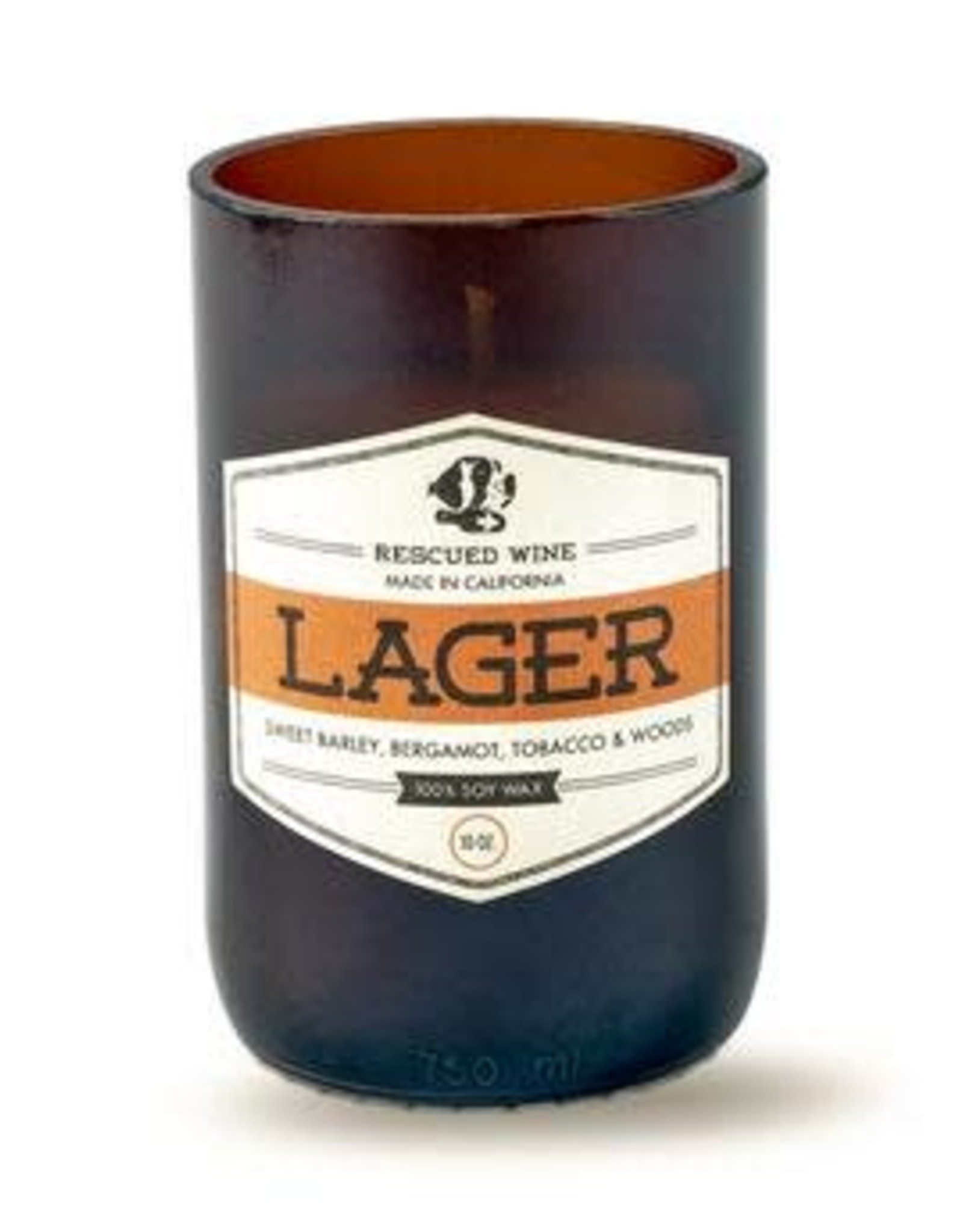 Rescued  Wine Candles Rescued Wine Candle Lager