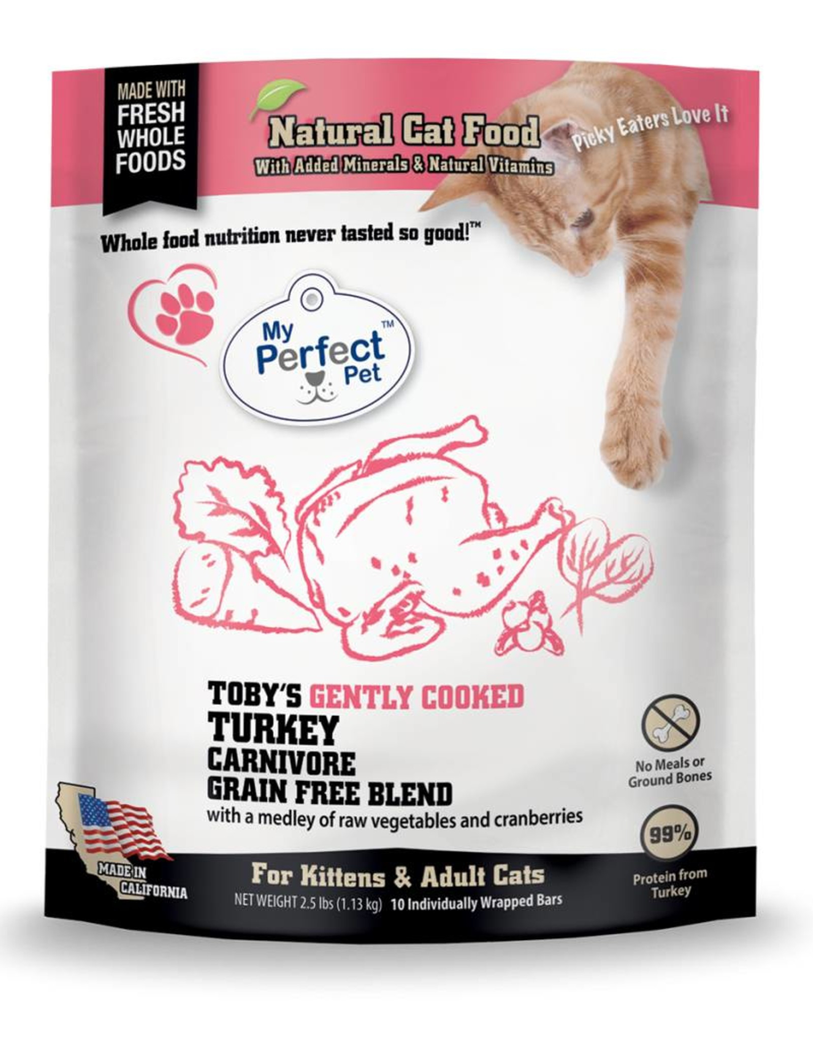 My Perfect Pet My Perfect Pet Cat Toby's Turkey Carnivore