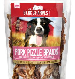 Bark & Harvest Bark & Harvest Pork Pizzle Braids 6ct