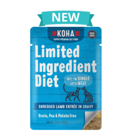 Koha SALE - Koha Limited Ingredient Shredded Lamb for Cats