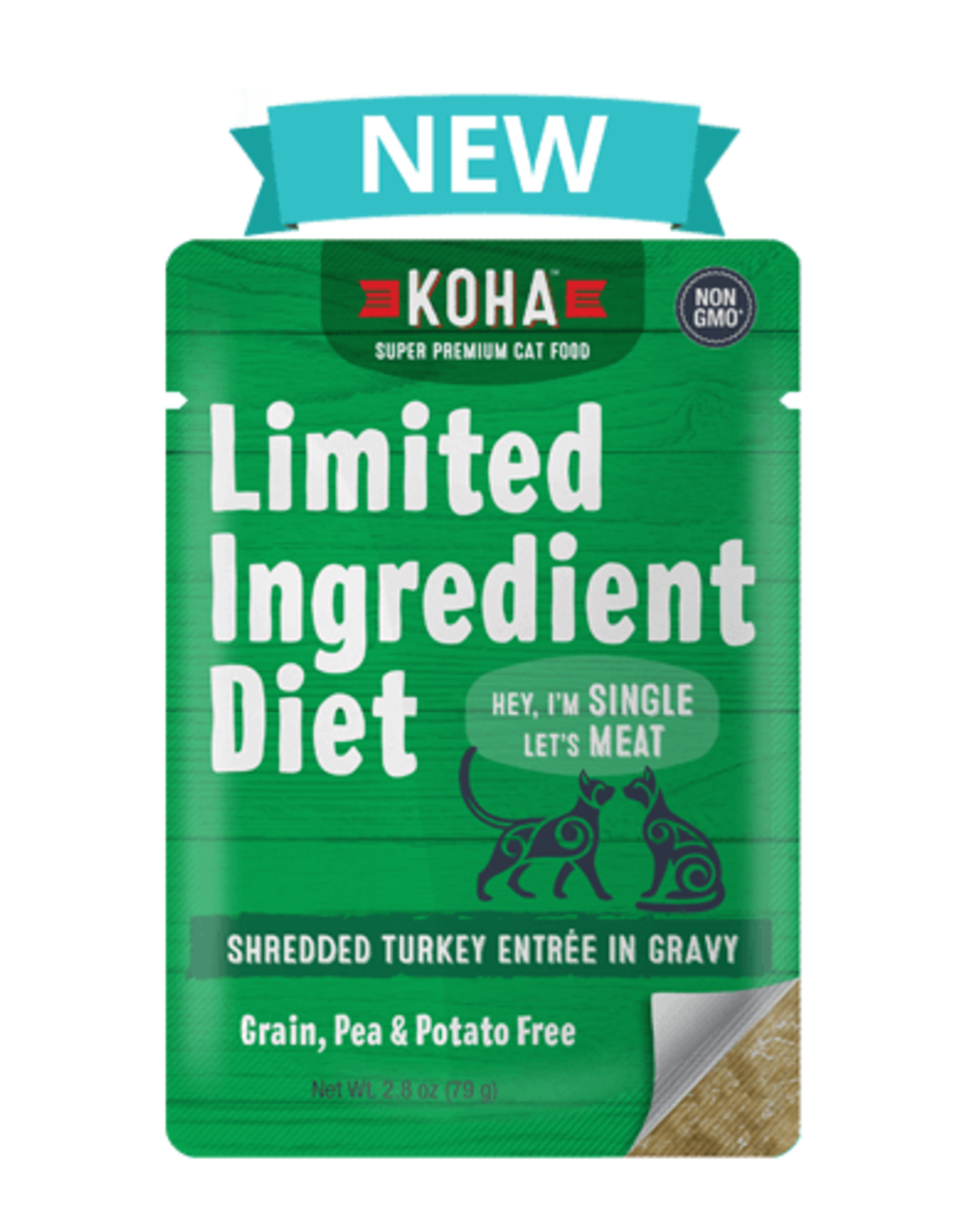 Koha SALE - Koha Limited Ingredient Shredded Turkey for Cats