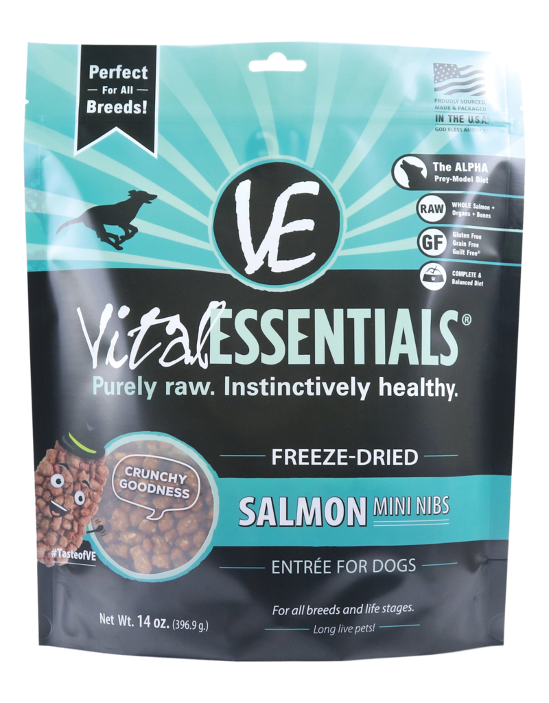 Vital Essentials Vital Essentials Dog Freeze-Dried Salmon Mini Nibs 14oz