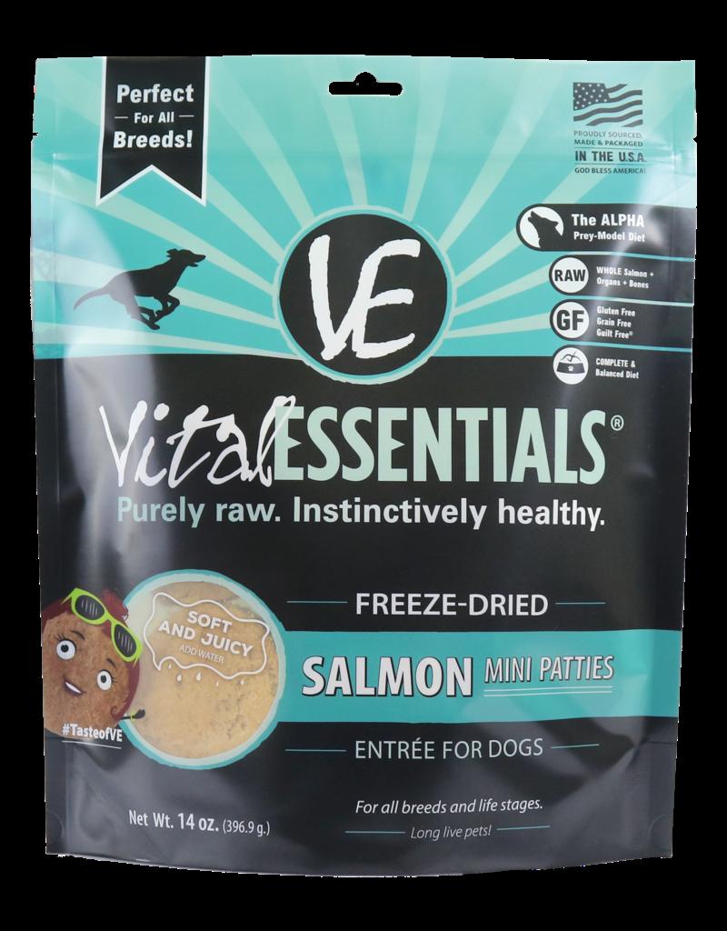Vital Essentials Vital Essentials Dog Freeze-Dried Salmon Mini Patties 14oz