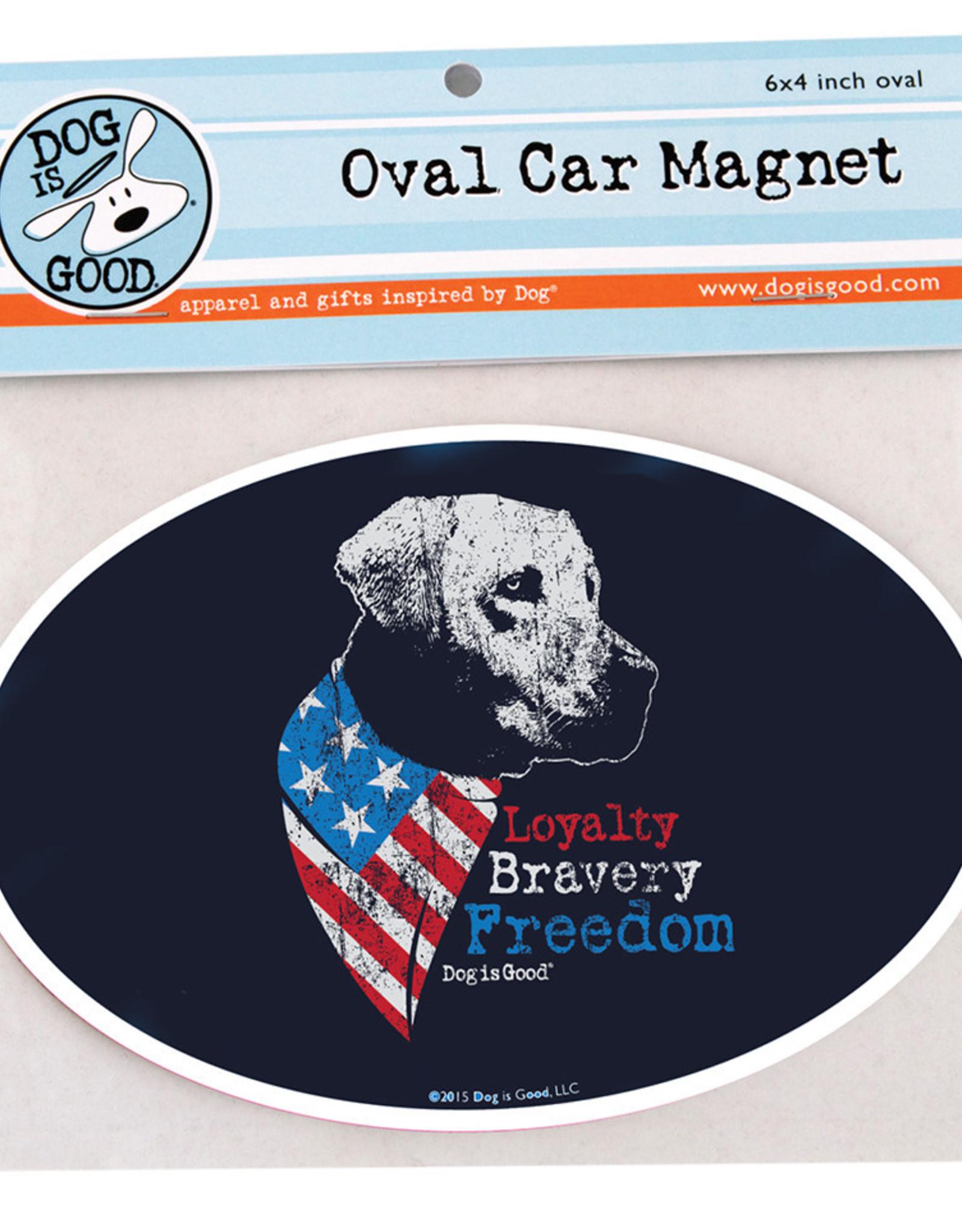 Dog Is Good Car Magnet: Freedom Dog